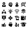 idea icon set vector image vector image