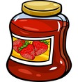 jam in jar cartoon vector image vector image