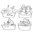 kids bath contour vector image