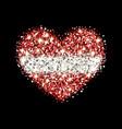 latvia flag sparkling heart badge vector image vector image