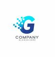 letter g pixel logo technology and digital vector image
