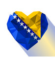 logo symbol of love bosnia and herzegovina vector image vector image