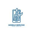 mobile service logo vector image vector image