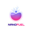 nano fuel logo template vector image