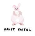 overweight easter bunny vector image