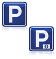 Parking and pay parking vector image vector image