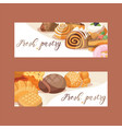 pastry baked cake cream cupcake and sweet vector image vector image