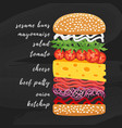 Poster lettering burger hand drawn typography