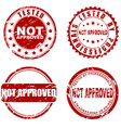 Red stamp - not approved vector image vector image