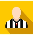Referee flat icon vector image vector image