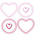 ribbon heart frames clipart set vector image