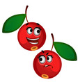 set funny laughing ripe red berries isolated on vector image vector image