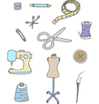 Set of sewing equipment vector image