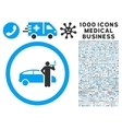Smoking Taxi Driver Icon with 1000 Medical vector image