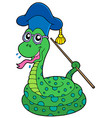 snake teacher vector image