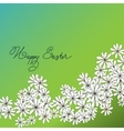 Spring Happy Easter background with chamomiles vector image