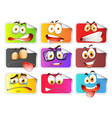 Sticker with facial expressions vector image vector image