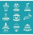 Summer emblem set