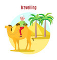 summer vacation template vector image vector image