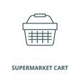 supermarket cart line icon linear concept vector image vector image