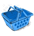 Supermarket food basket vector image vector image