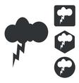 Thunderbolt icon set monochrome vector image