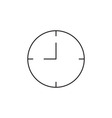 Time clock icon outline vector image vector image