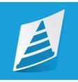 Traffic cone sticker vector image