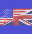 union jack and stars and stripes vector image