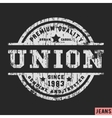 union vintage stamp vector image vector image