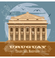 Uruguay landmarks Theater Solis Montevideo Retro vector image