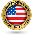 USA Indpendence Day the 4th of july gold label