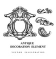 vintage architectural decoration elements vector image vector image