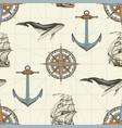 vintage seamless pattern on theme travel vector image