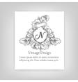 vintagevintage emblem monogram emblem monogram vector image vector image