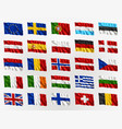 waving flags europe vector image