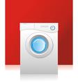 white washing machine vector image vector image