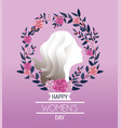 woman with roses and branches leaves to vector image vector image
