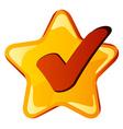 yellow checkmark star vector image vector image
