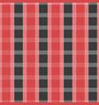 seamless tartan pattern red and grey kilt fabric vector image