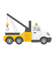 tow truck flat icon transport and vehicle vector image