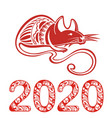 2020 chinese rat new year banner design template vector image vector image