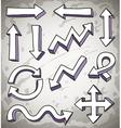 3d doodle arrows