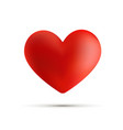 3d heart isolated on white valentine s day vector image vector image