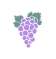 a bunch of purple grapes icon design vector image vector image