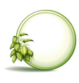 A round empty template with plants vector image vector image