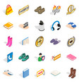 advertising campaign icons set isometric style vector image vector image