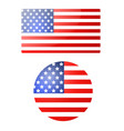 american flag banner and button for independence vector image