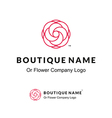 Beautiful Contour Logo with Flower for Boutique or vector image vector image