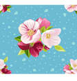 Beautiful pattern with flowers vector image